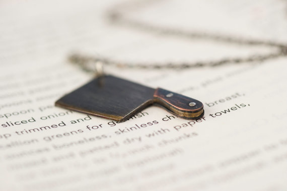 Sterling Silver Cleaver Charm Necklace