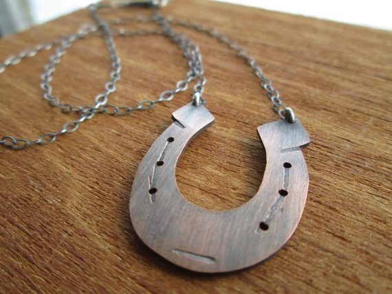Copper Lucky Horse Shoe Necklace